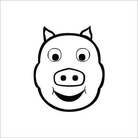 Pig icon. Vector Illustration