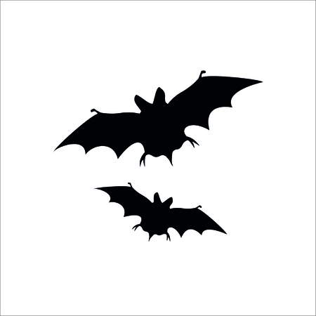 Flying Bat icon on white background. Vector Illustration.