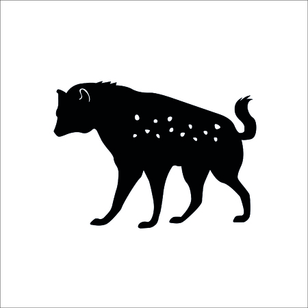 Hyena icon on white background. Vector Illustration.