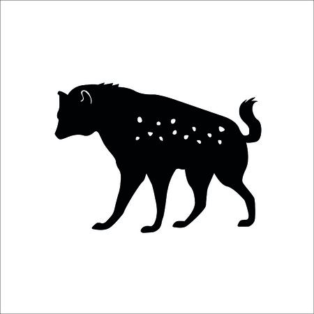Hyena icon on white background. Vector Illustration.