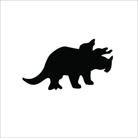 Triceratops Dinosaur icon on white background. Vector Illustration.