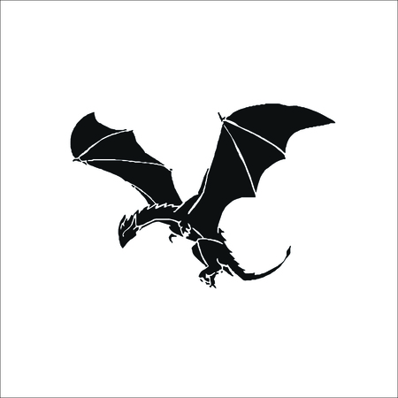 Flying dragon icon Illustration