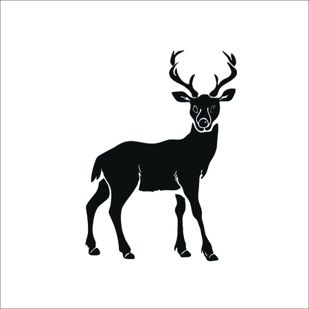 Deer icon. Vector Illustration