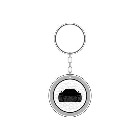 Key chain for car. Vector Illustration
