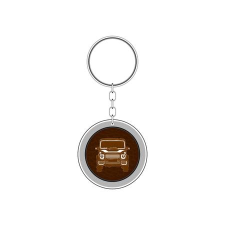 Key chain for car. Vector Illustration Archivio Fotografico - 100306076