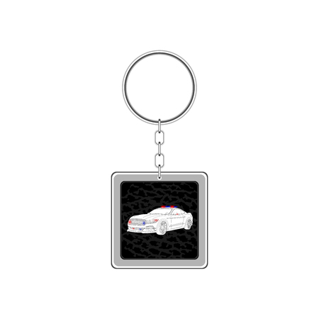 Key chain for car. Vector Illustration