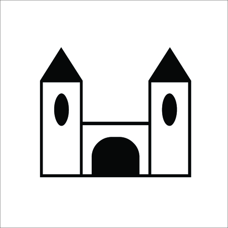 Castle icon. Vector Illustration Standard-Bild - 100306365