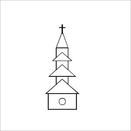 Church icon, temple  イラスト・ベクター素材