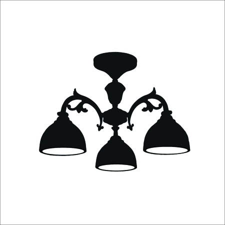 Chandelier icon. Vector illustration Illustration