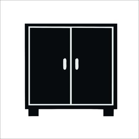 Wardrobe icon. Vector illustration Vectores