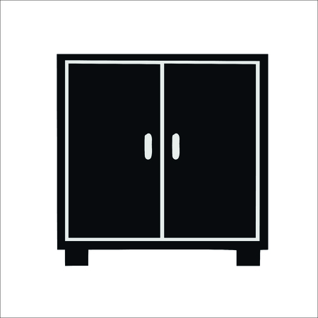 Wardrobe icon. Vector illustration Vectores