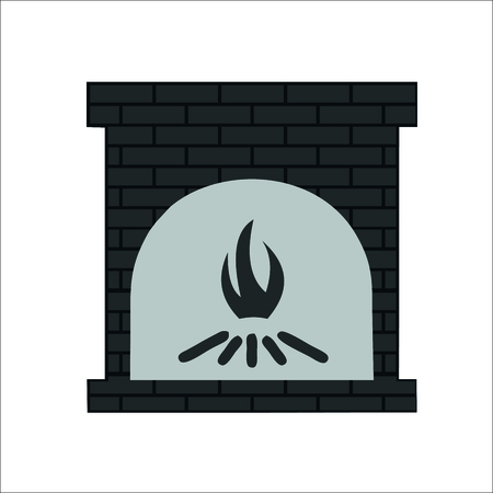 Fireplace icon. Vector illustration