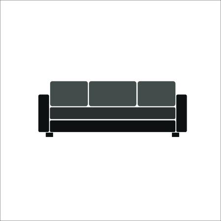 Sofa icon. Vector illustration  イラスト・ベクター素材
