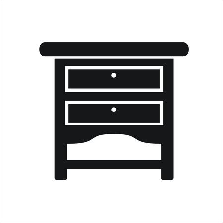 Bedside icon. Vector illustrstion