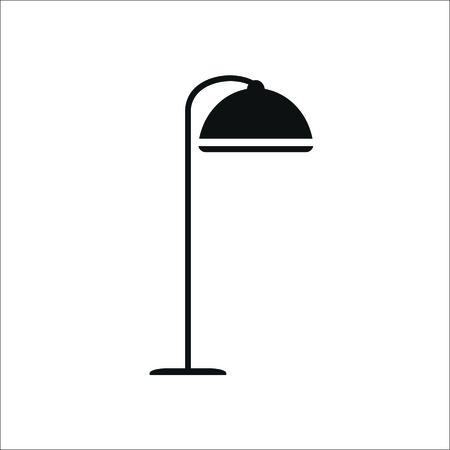 Floor lamp icon. Vector illustration