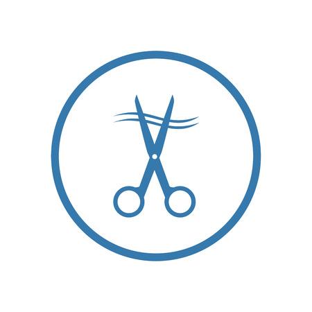 Scissors icon. Vector Illustration