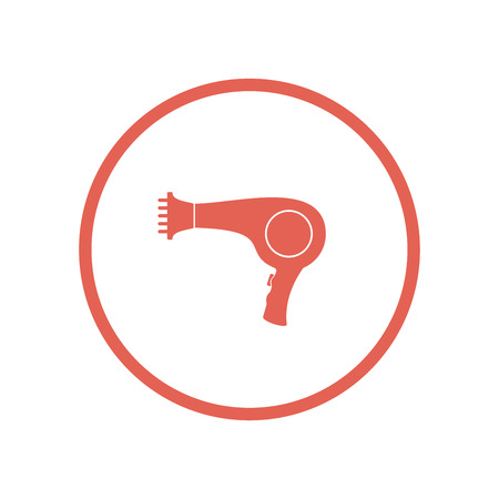 Hairdryer icon. Vector Illustration