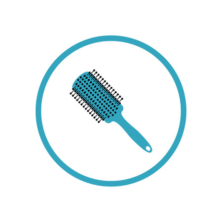 Hairbrush icon. Vector Illustration