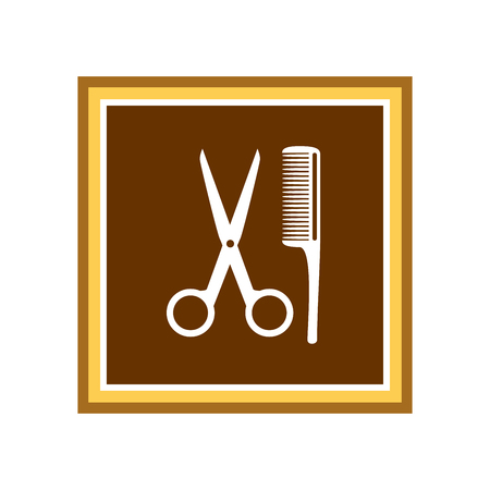 Scissors icon. Vector Illustration