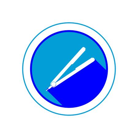 Hair straightener icon. EPS 10