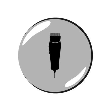 Shaving machine icon Illustration