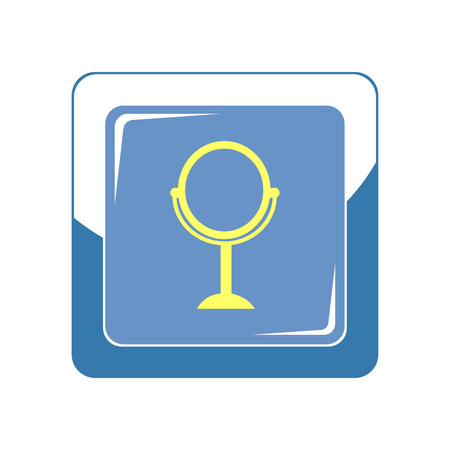 Mirror icon. Vector Illustration