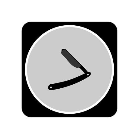 Straight razor icon Çizim