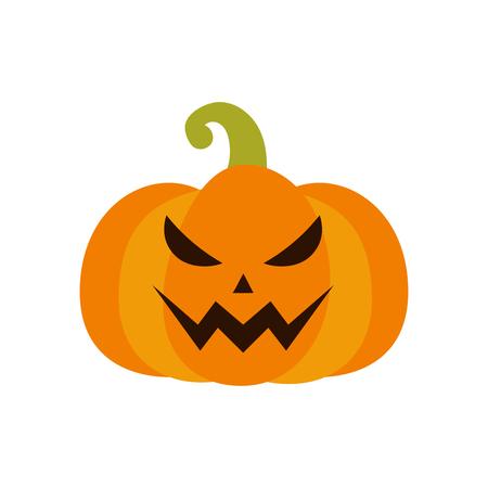Pumpkin icon. Halloween sign. Vector Illustration Illustration