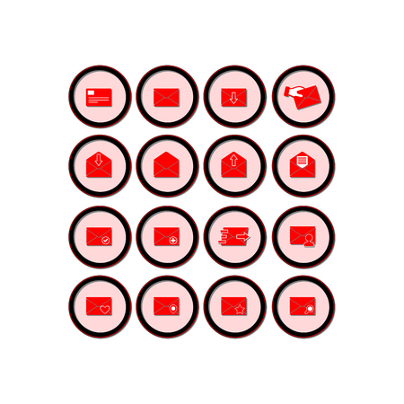 Mail icon. Flat vector icon set