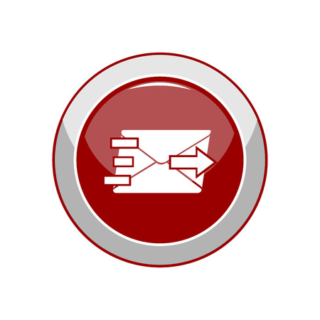 Mail icon. Vector Illustration Stock Vector - 104629521