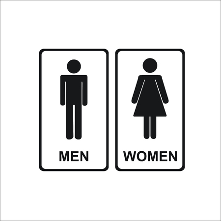 Restroom ,Toilet icon. Male and female WC icon