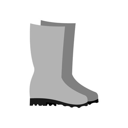 Rubber boots icon on white background. Vector Illustration. Illustration