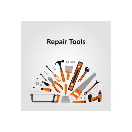 Repair tools icon. Background illustration