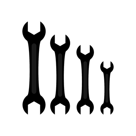 Wrench icon on white background. Vector Illustration. Иллюстрация