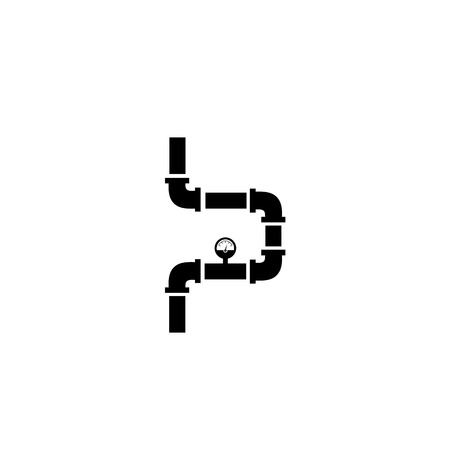Pipe icon on white background. Vector illustration.