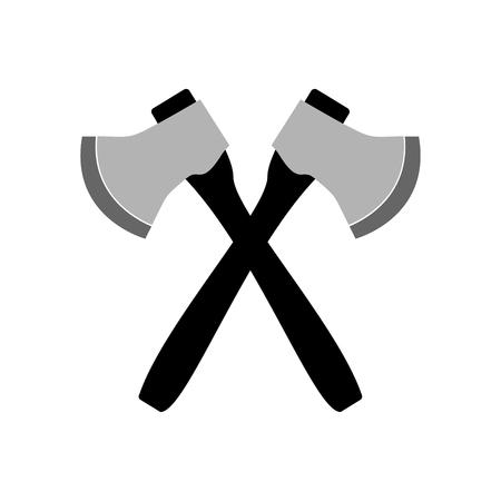 Ax icon on white background. Vector Illustration. Illustration
