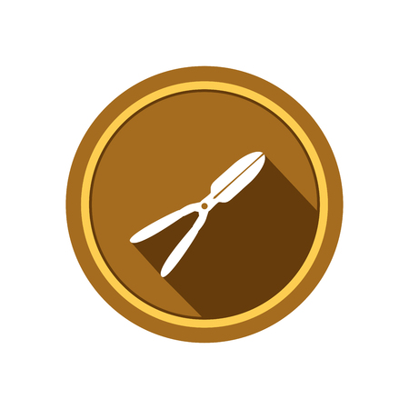 Garden pruner, agriculture tool icon
