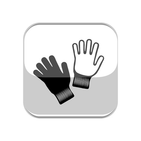Gloves icon in light square on white background. Vectores