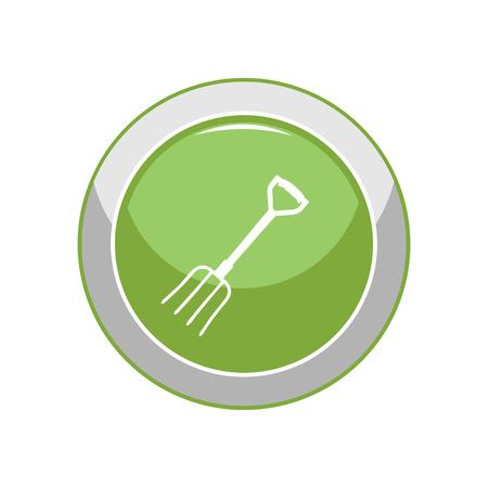 Garden forks. Vector Illustration. Stockfoto - 100739362