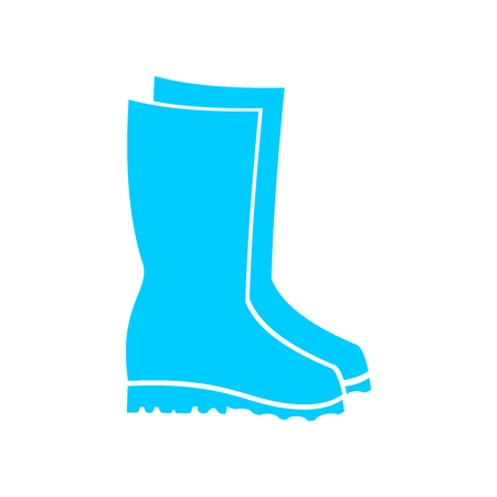 Rubber boots icon.