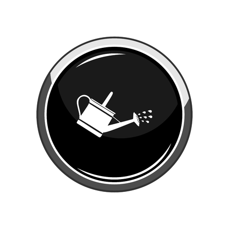 Watering can icon Illustration