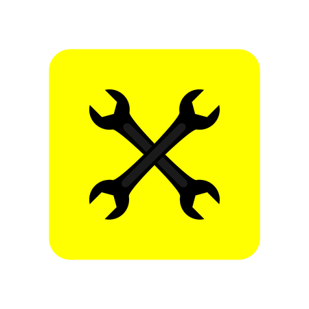 Wrench icon vector illustration.