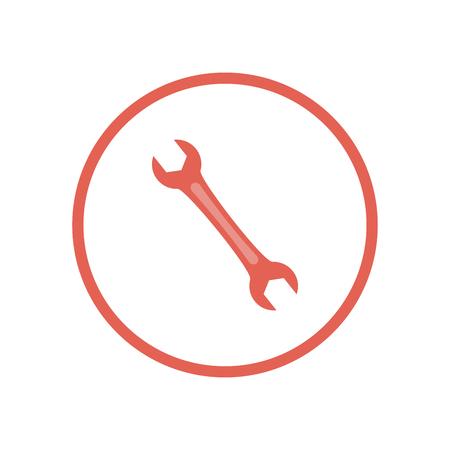 Wrench icon on white background. Vector Illustration. Illustration