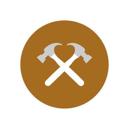 Hammer icon. Vector Illustration