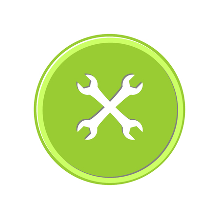 Wrench icon in light circle. Vector Illustration. Illustration