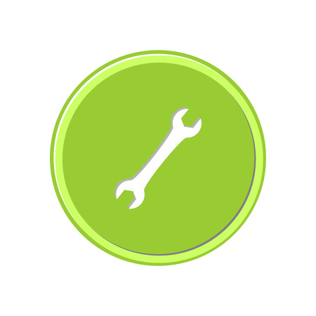 Wrench icon in light circle. Vector Illustration.  イラスト・ベクター素材