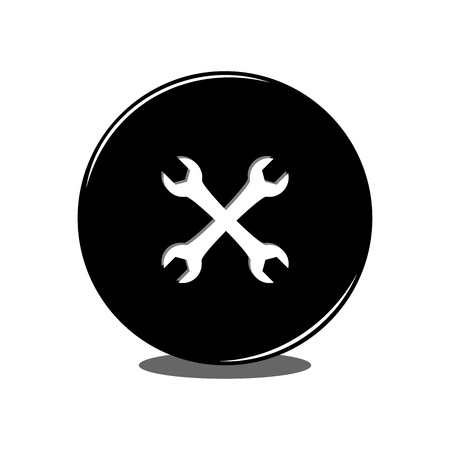 Wrench icon. Vector Illustration Иллюстрация