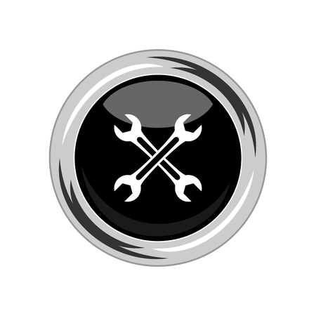 Wrench icon. Vector Illustration  イラスト・ベクター素材