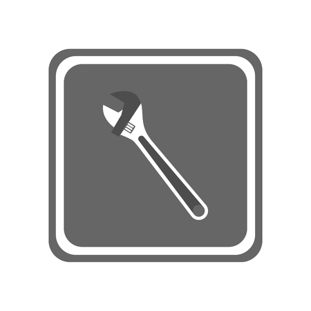 Wrench icon. Vector Illustration Illustration