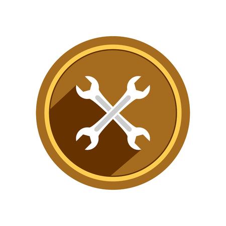 Wrench icon. Vector Illustration  イラスト・ベクター素材